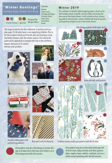 Winter Buntings Gift Wrap Trendboard