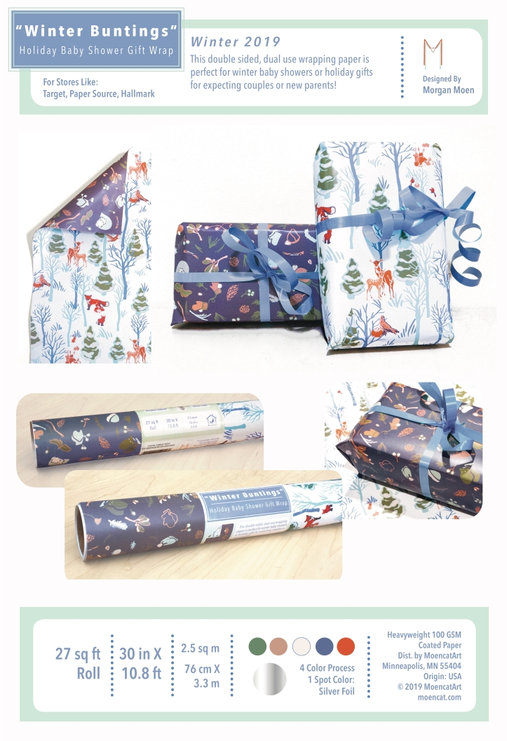 Winter Buntings Gift Wrap Product Board 1/2