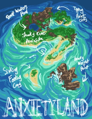 Anxietyland: An Illustrated Map